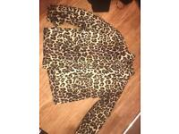 Leopard print coat small