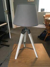 Three Legged Lamp with Light Grey Shade