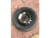 BMW 16 INCH SPACE SAVER SPARE ALLOY WHEEL WITH CONTINENTAL TYRE 115/90R16