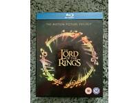 Lord of the Rings trilogy on blu-ray