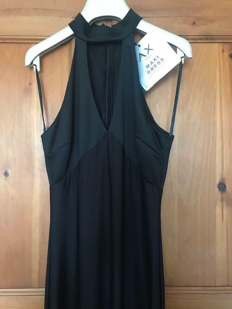 Long black dress. AX PARIS