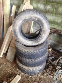 4 BFG all terrain tyres