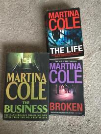 3x Martina Cole Books
