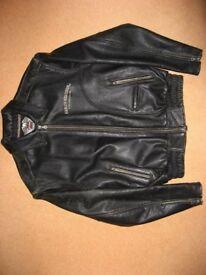 Harley Davidson Brown Antique Leather Motorcycle Jacket