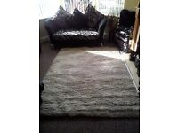 LARGE NEW CREAM SHAGGY RUG COST 300 NEXT