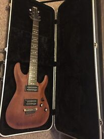Schecter Omen 7 with Hard case for sale!