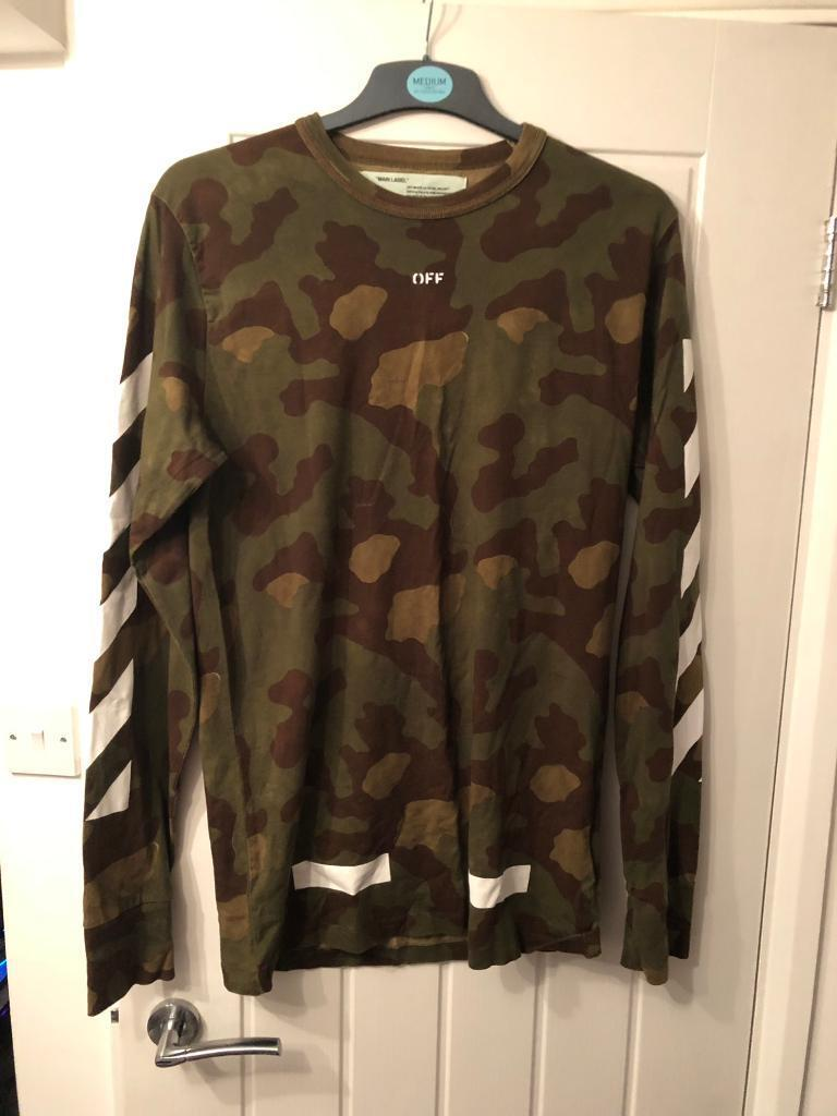 753332ab1a6 OFF X WHITE SEEING THINGS CAMO TEE (100% Authentic!) Letchworth Garden City  ...