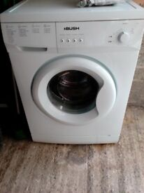 Bush A126Q Washing Machine - White. 6kg. A+ rated. 1200 spin.