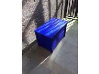 Blanket/storage wooden box on wheels