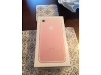 I Phone 7 Rose Gold 32GB BRAND NEW Sealed Box - never opened