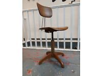 1930s German Factory/Desk Chair by Ama Elastik. Vintage/Retro/Antique