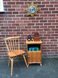 Vintage TEAK Walnut VESPA Bedside Table Lamps Stand Mid Century RETRO Alfred COX