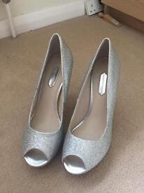 Glitter Peep Toe Heels 6