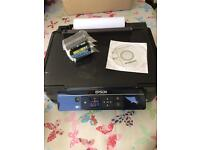 Epson xp-305 printer with 3 new inks and disc