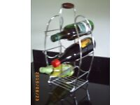 NEAT METAL CHROME WINE RACK