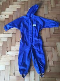 Muddy Puddles All-in-One Waterproof Blue *Age 3-4* hardly used