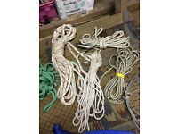 Ropes from sailing yacht