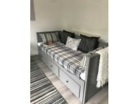 IKEA Day Bed / Sofa Bed in grey, hardly used