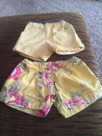 GIRLS JOULES SHORTS AGE 3 YEARS