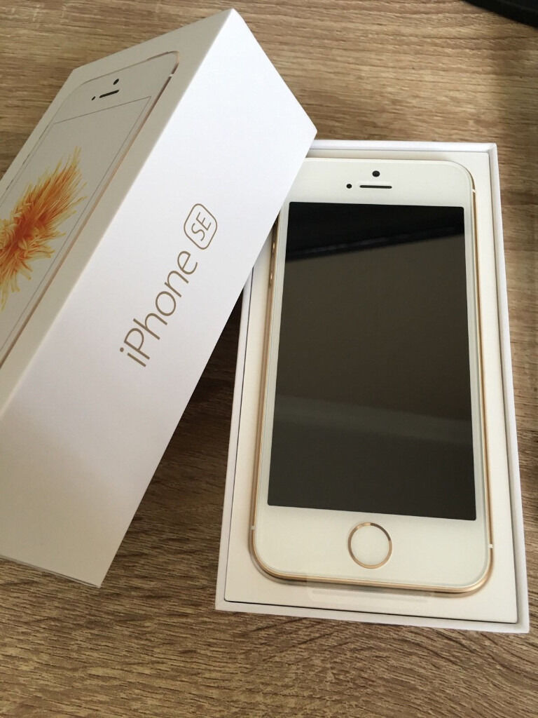 iphone SE 16GB Goldin Belper, DerbyshireGumtree - iphone 16GB Gold unlocked any network . no marks at all and has gel case and tempered glass screen protector. spare gel and tempered glass both new and unused included.boxed with all accessories inc sim tray pin. 220