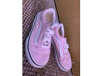 Children's pink vans