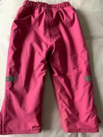 Jojo Maman Bebe Fleece Lined Waterproof Trousers (sz 18-24 months) brand new