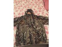 Real tree camouflage jacket and trousers