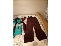 Girls ski suit with extras