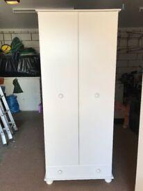 3 x White Bedroom Cupboards