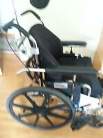 Newly refurbished manual tilt wheelchair - Small adult or child