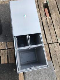 Integrated waste bin