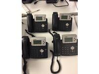 6x Yealink T20p SIP VOIP Telephone Handset Digital LCD Phone Grey Black
