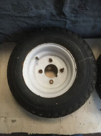 6-50 x 8 6PLY WHEELS AND TYRES WILL FIT TRACTOR, TRAILER, GOLF BUGGYS, QUAD