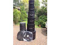 6 Le Bond drum cases for sale