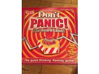 Don't panic board game - used once immaculate condition