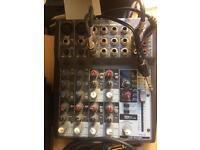 Behringer Xenyx 1002 FX & Audio Technica AT2020 condenser mic