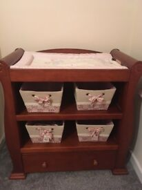 Cot bed and changing station