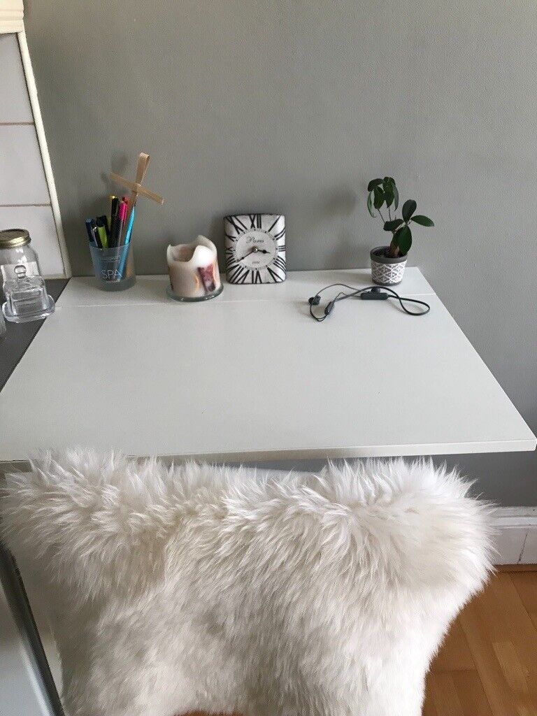 Superb Norberg Ikea Wall Mounted Drop Leaf Table Desk White74 X 60 Download Free Architecture Designs Pushbritishbridgeorg