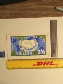 Africa Nigeria Original Artwork Antique Stamp