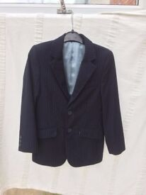 Boys smart formal Navy pin stripe jacket age 8 Marks & Spencer Autograph range Christmas
