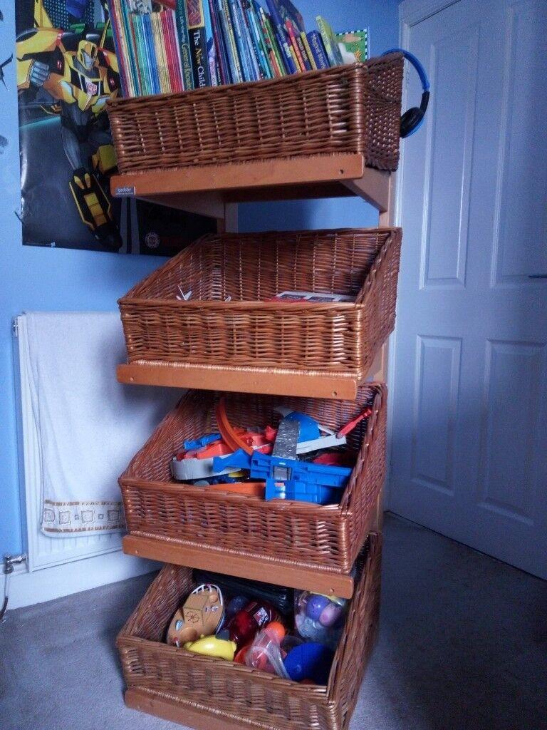 4 Tier Wicker Basket Stand Baskets Single Or Pair In Dunfermline Fife Gumtree