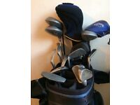 Golf bag and full set clubs, gloves, balls, tees, really good condition , Xmas present maybe?