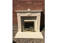 Fireplace with brass fittings Excellent condition