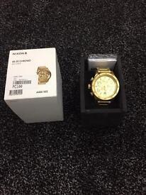 Gold watch Nixon 48-20 Chorno , 48 MM