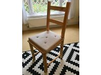 Brand new wooden chair with cushion