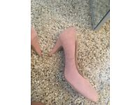 Nude pink size 5 small heels great for work and interviews