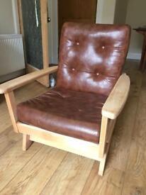 Leather Rocking Chair - Vintage/Retro