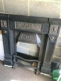 Renovated Victorian Cast Iron Fire Place