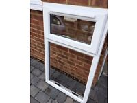 Double glazed upvc window, with single top hopper