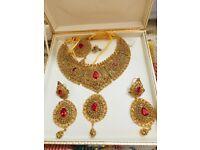 Golden antique beautiful Indian Asian wedding jewellery set